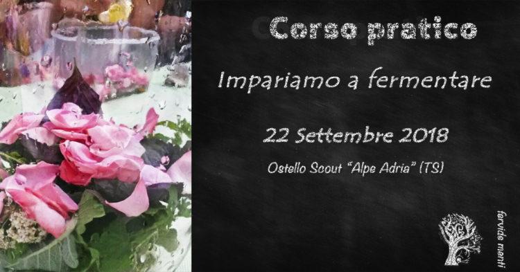 Locandina Corso 22 settembre 2018