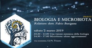 Evento Biologia e Microbiota 2 marzo 2019